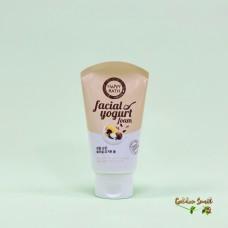 Увлажняющая пенка для сухой кожи с экстрактом масло семечек подсолнуха 120 мл Happy Bath Real Mild Facial Yogurt Foam