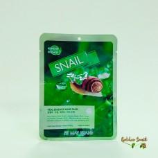 Маска для лица тканевая с улиточным муцином May Island Real Essence Mask Pack Snail