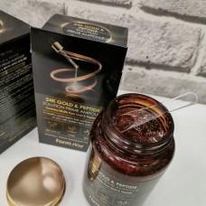 Антивозрастная ампульная сыворотка с 24К золотом и пептидами 250 мл FarmStay 24K Gold & Peptide Solution Prime Ampoule