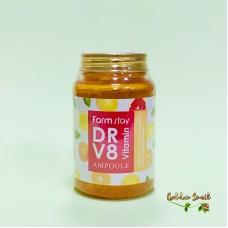 Многофункциональная ампульная сыворотка с витаминным комплексом FarmStay DR-V8 Vitamin Ampou