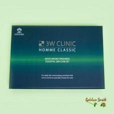 Освежающий набор для мужчин 3W Clinic Homme Classic Moisturizing Freshness Essential Skin Care Set