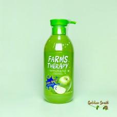 Гель для душа на основе минеральной воды с экстрактом зеленого яблока 700 мл Daeng Gi Meo Ri Farms Therapy Sparking Green Apple Clean Body Wash