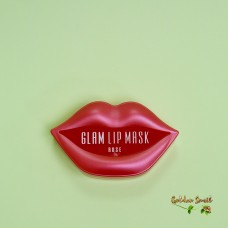Гидрогелевые патчи для губ с розой 20 шт BeauuGreen Hydrogel Glam Lip Mask Rose