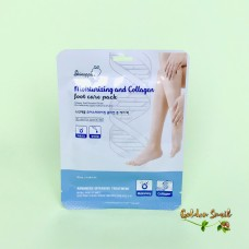Увлажняющая маска для ног с коллагеном и муцином улитки Skinapple Moisturizing And Collagen Foot Care Pack