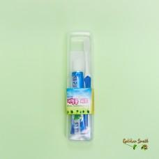 Дорожный набор освежающая зубная паста + щетка Travel Toothbrush Set Perioe Fluoride Rush Toothpast