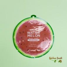 Охлаждающая и увлажняющая маска для лица с экстрактом арбуза Holika Holika Water Melon Mask Sheet