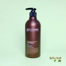 Восстанавливающая маска-бальзам для волос с кератином 530 мл Floland Premium Silk Keratin Treatment