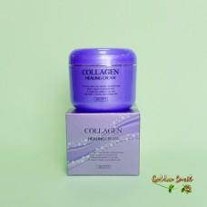 Питательный крем для лица с коллагеном Jigott Collagen Healing Cream