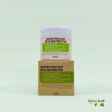 Увлажняющие пэды с центеллой для очищения кожи 70 шт Purito Centella Green Level All In One Mild Pad