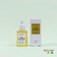 Ампульная сыворотка с коллагеном и золотым шелкопрядом 30 мл So Natural Silk Collagen Glow Ampoule