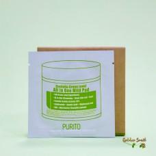 Увлажняющие пэды с центеллой для очищения кож 4,5* 2 шт Purito Centella Green Level All In One Mild Pad