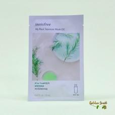 Трехслойная лечебно-косметическая маска для лица с экстрактом чайного дерева Innisfree My Real Squeeze Mask EX Tea Tree