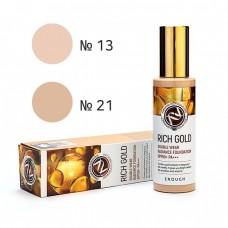 Тональная основа с золотом Enough Rich Gold Double Wear Radiance Foundation SPF50 PA+++