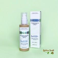 Тональный крем с коллагеном 3в1 для сияния кожи Enough Collagen Whitening Moisture Foundation SPF15
