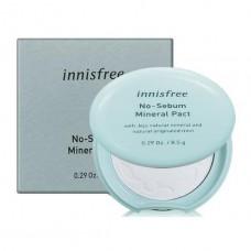 Бесцветная минеральная матирующая компактная пудра Innisfree No-Sebum Mineral Pact