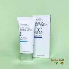 Отбеливающий тональный СС крем 3W Clinic Crystal Whitening CC Cream SPF50+ / PA+++