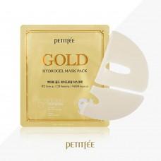 Гидрогелевая маска для лица антивозрастная с золотом Petitfee Gold Hydrogel Mask Pack + 5 Golden Complex