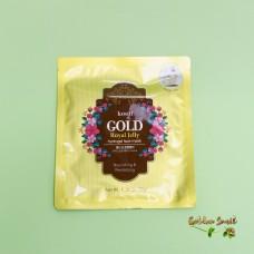Гидрогелевая маска с золотом и экстрактом мёда для проблемной кожи Petitfee Koelf Gold & Royal Jelly Mask Pack