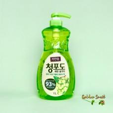 """Средство для мытья посуды, овощей и фруктов """"Зелёный виноград"""" дезодорирующее 1000 мл Mukunghwa"""
