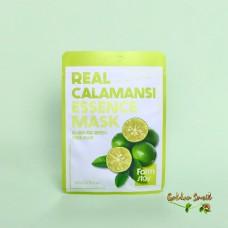 Тканевая маска с экстрактом каламанси FarmStay Real Calamansi Essence Mask
