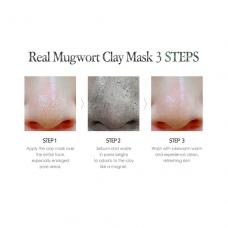 Глиняная маска с экстрактом полыни для проблемной кожи IsNtree Real Mugwort Clay Mask