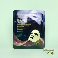 Антивозрастная тканевая маска с протеином золотых коконов шелкопряда GOU:E Pro-Derm Gold Silk Mask