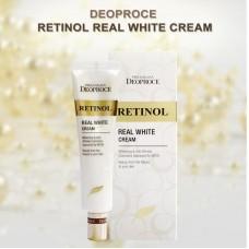 Антивозрастной крем для век и носогубных складок с ретинолом 40 мл Premium Deoproce Retinol Real White Cream