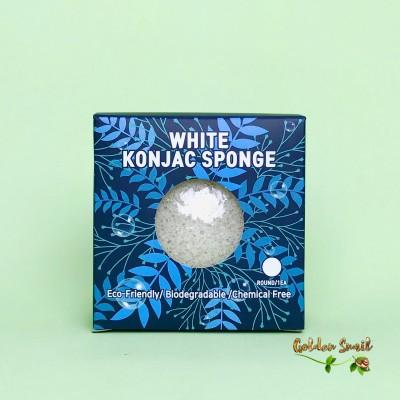 Очищающий спонж конняку Trimay White Konjac Sponge
