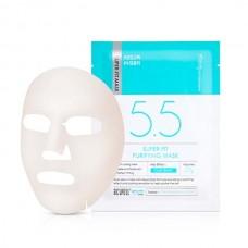 Успокаивающая тканевая маска с охлаждающим эффектом Acwell Super-Fit Purifying Mask