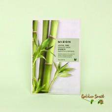 Тканевая маска с экстрактом бамбука Mizon Joyful Time Essence Mask Bamboo Smooth & Refining
