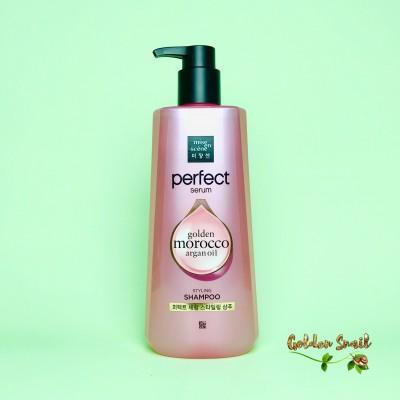 Питательный шампунь с комплексом масел и маточным молочком 680 мл Mise-en-Scene Perfect Serum Golden Morocco Argan Oil Styling Shampoo