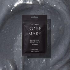 Восстанавливающая маска для кожи головы с соком розмарина и древесным углём 50 мл Rated Green Cold Brew Rosemary Balancing Scalp Pack (Charcoal)