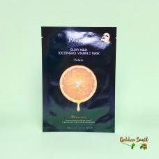 Ультратонкая тканевая маска для выравнивания тона JMsolution Glory Aqua Tocopherol Vitamin C Mask