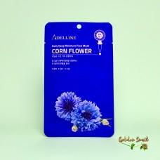 Восстанавливающая и увлажняющая маска с экстрактом василька Adelline Daily Deep Moisture Corn Flower Face Mask